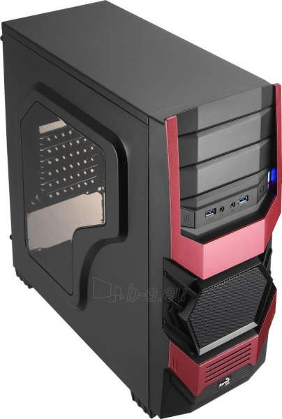 PC korpusas AeroCool ATX PGS CYCLOPS ADVANCE RED, USB3 Paveikslėlis 2 iš 8 310820067020