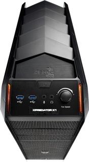 PC korpusas AeroCool Ultimate gaming X-PREDATOR X1 Black, 2xUSB 3.0 Paveikslėlis 3 iš 8 250255900752