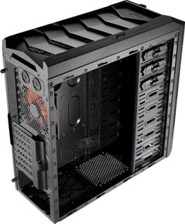 PC korpusas AeroCool Ultimate gaming X-PREDATOR X1 Black, 2xUSB 3.0 Paveikslėlis 4 iš 8 250255900752