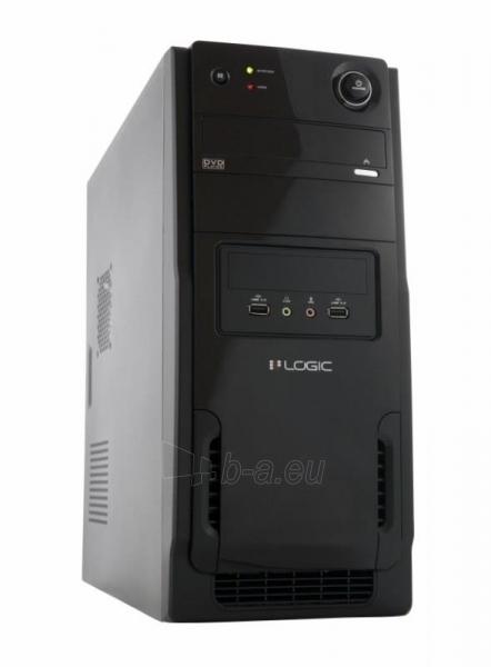 PC korpusas be PSU LOGIC A11 Midi Tower,USB 3.0, USB 2.0 ,  Juodas Paveikslėlis 1 iš 3 250255901036