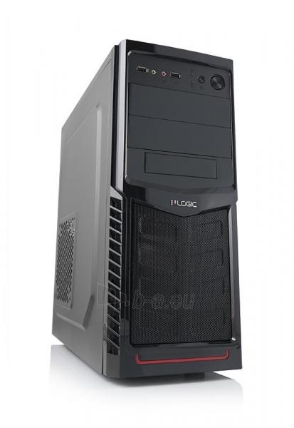 PC korpusas be PSU LOGIC A30 Midi Tower, Juodas Paveikslėlis 1 iš 3 250255901037