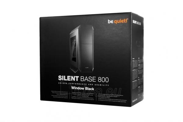 PC korpusas be quiet! Silent Base 800 Window, juodas, ATX, micro-ATX, mini-ITX Paveikslėlis 4 iš 4 310820015658
