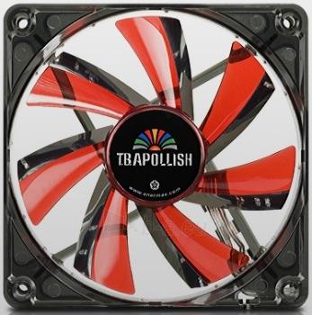PC korpuso ventiliatorius Enermax T.B.Apollish Red 12cm Paveikslėlis 1 iš 2 2502552400183