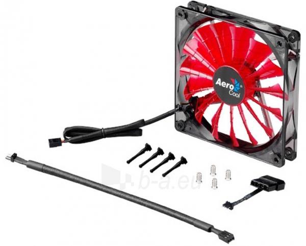 PC ventiliatorius AEROCOOL SHARK DEVIL RED EDITION 140x140x25mm Paveikslėlis 1 iš 3 2502552400199