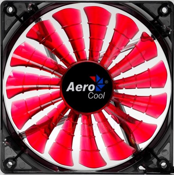 PC ventiliatorius AEROCOOL SHARK DEVIL RED EDITION 140x140x25mm Paveikslėlis 2 iš 3 2502552400199