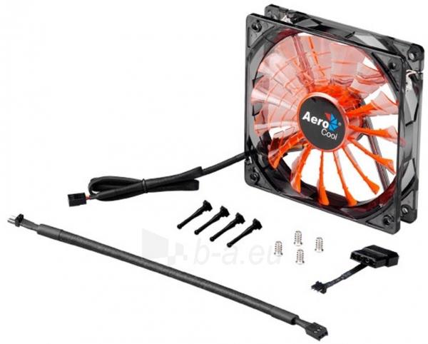 PC ventiliatorius AEROCOOL SHARK EVIL BLACK EDITION 120x120x25mm Paveikslėlis 1 iš 3 2502552400200