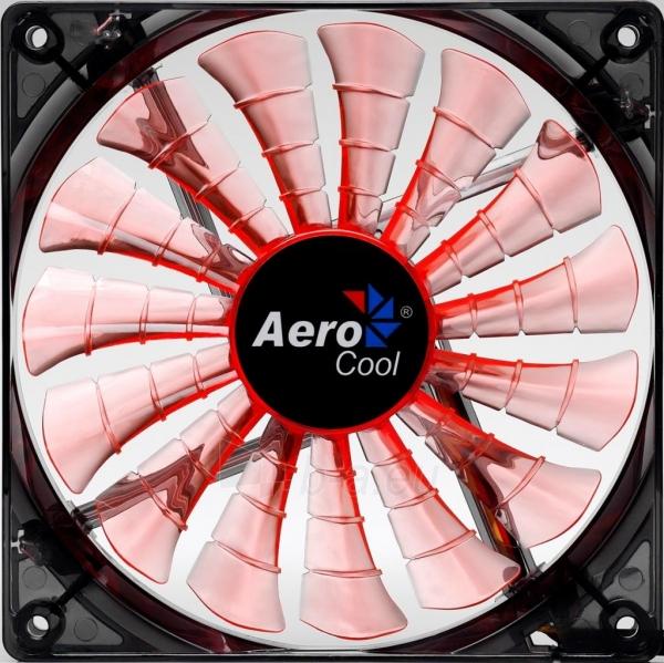 PC ventiliatorius AEROCOOL SHARK EVIL BLACK EDITION 140x140x25mm Paveikslėlis 2 iš 3 2502552400201