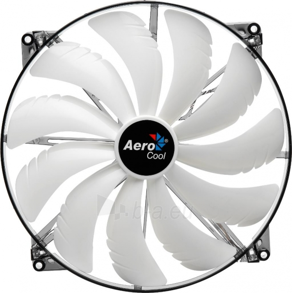 PC ventiliatorius AEROCOOL SILENT MASTER WHITE LED, 200x200x20mm Paveikslėlis 2 iš 3 2502552400203