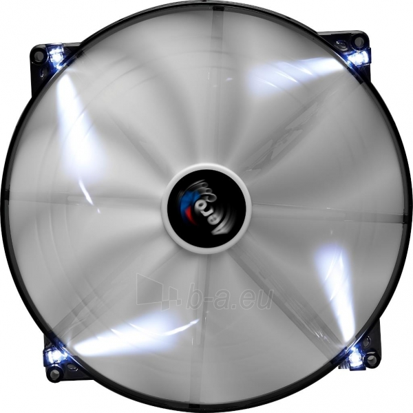 PC ventiliatorius AEROCOOL SILENT MASTER WHITE LED, 200x200x20mm Paveikslėlis 3 iš 3 2502552400203