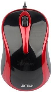 Pelė A4Tech V-TRACK N-350-2 USB Juodai raudona Paveikslėlis 1 iš 1 250255031178