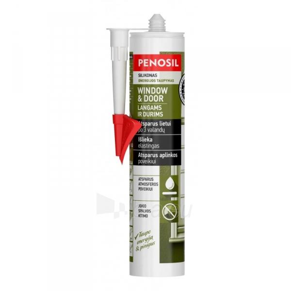 PENOSIL langų durų 310ml silikoninis hermetikas bespalvis Paveikslėlis 1 iš 1 310820039966
