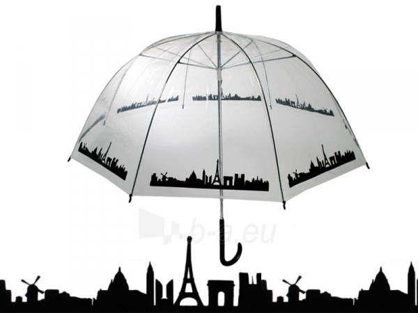 Permatomas didelis skėtis (su miesto siluetu) Paveikslėlis 1 iš 4 251005000133
