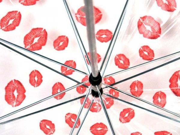 Permatomas didelis skėtis Bučinys Paveikslėlis 5 iš 6 251005000129