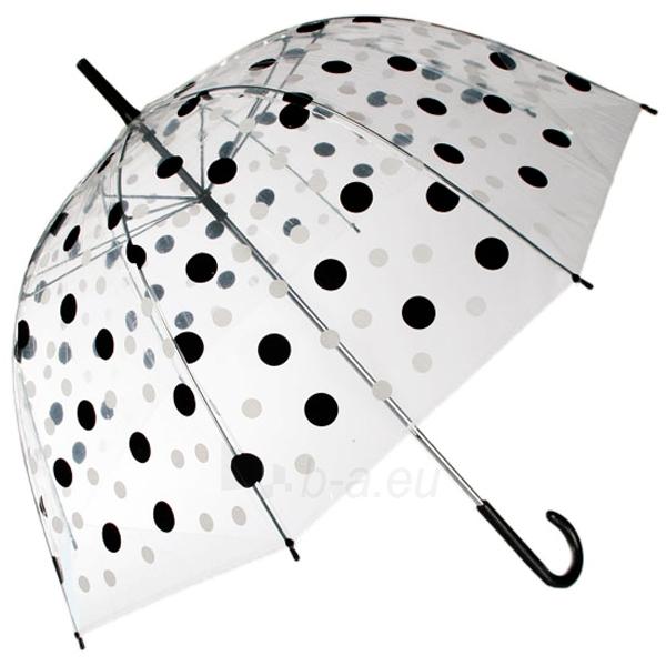 Permatomas skėtis su juodais ir baltais taškeliais Paveikslėlis 2 iš 3 251005000134