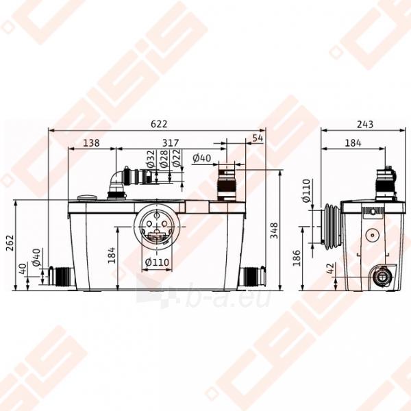 Perpompavimo stotelė nuotekoms Wilo HiSewlift 3-35 (WC +3); 0,4kW Paveikslėlis 2 iš 3 270527000242