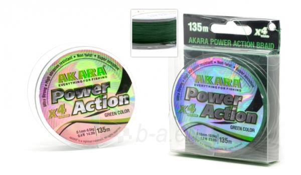 Pintas Valas Power Action X-4 Žalias 135m, 0.14 mm Paveikslėlis 1 iš 1 310820247358