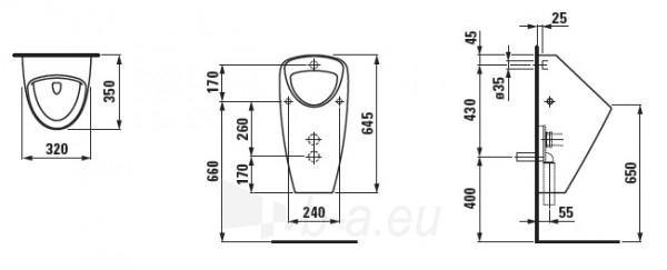 Pisuaras Laufen Caprino 32 cm su valdymo sistema Paveikslėlis 2 iš 2 310820240004