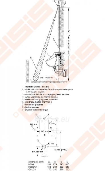 Piararo nuplovėjas SANELA SLP 11, įrengtas po lubomis ar integruotu maitinimo šaltiniu Paveikslėlis 3 iš 3 270713001118
