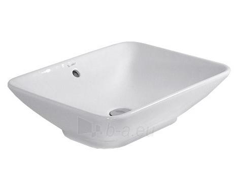 Bacino praustuvas 55x42 cm, su persipylimu, baltas Paveikslėlis 1 iš 1 270711000921