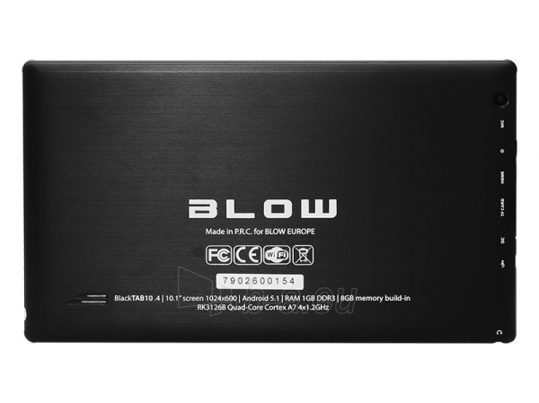 Planšetinis kompiuteris Planšetė BLOW BlackTAB10.4 Paveikslėlis 3 iš 4 310820028599
