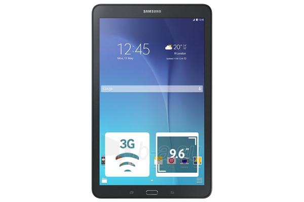 Planšetinis kompiuteris Samsung T561 Galaxy Tab E 8GB 3G metallic black Paveikslėlis 1 iš 5 310820167573