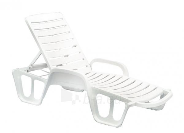 Plastikinis paplūdimio gultasS LETTINO FISSO 71X192cm, baltas Paveikslėlis 1 iš 1 310820154434