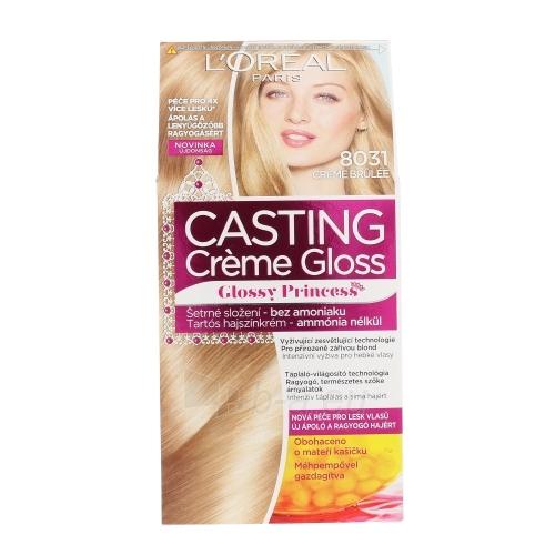 Plaukų dažai L´Oreal Paris Casting Creme Gloss Glossy Princess Cosmetic 1ks Shade 8031 Creme Brulée Paveikslėlis 1 iš 1 310820045808
