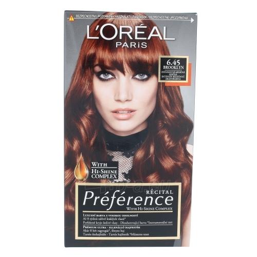 Plaukų dažai L´Oreal Paris Préférence Récital Hair Colour Cosmetic 1ks Shade 6.45 Brooklyn Paveikslėlis 1 iš 1 310820045797