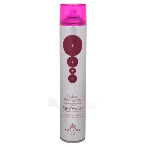 Plaukų lakas Kallos KJMN Silk Protein Hair Spray Extra Strong Cosmetic 750ml Paveikslėlis 1 iš 1 310820050013