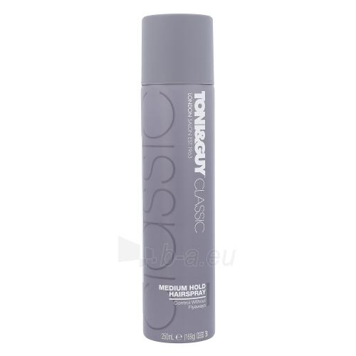 Plaukų lakas Toni&Guy Classic Medium Hold Hairspray Cosmetic 250ml Paveikslėlis 1 iš 1 310820045700