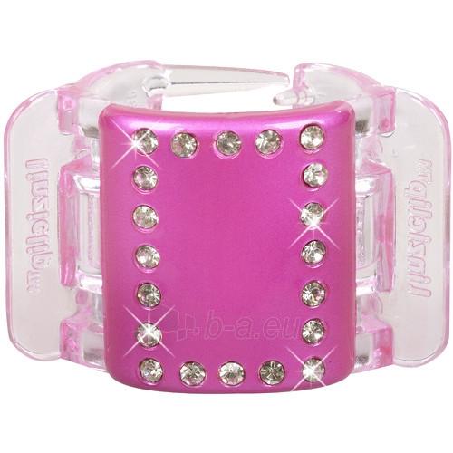 Plaukų segtukas MIDI - rožinis su kristalais Paveikslėlis 1 iš 1 30066800225