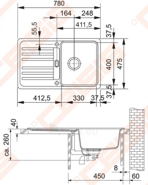 Plautuvė EFG614-78 graphite Paveikslėlis 2 iš 3 270712000101