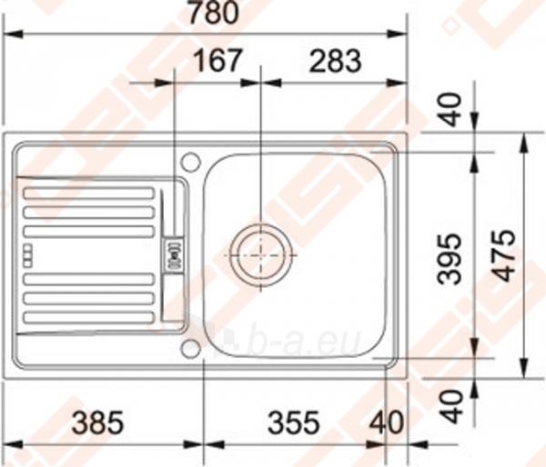 Plautuvė EFX614-78 be ventilio (112.0006.331) Paveikslėlis 2 iš 2 270712000105