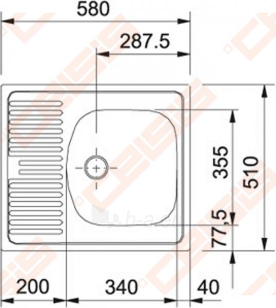 Plautuvė ETN611-58i be ventilio (112.0006.230) Paveikslėlis 2 iš 2 270712000110