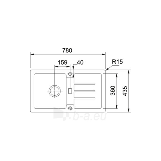 plautuv franke strata stg 614 78 u k v internetu pigiau ema kaina b. Black Bedroom Furniture Sets. Home Design Ideas