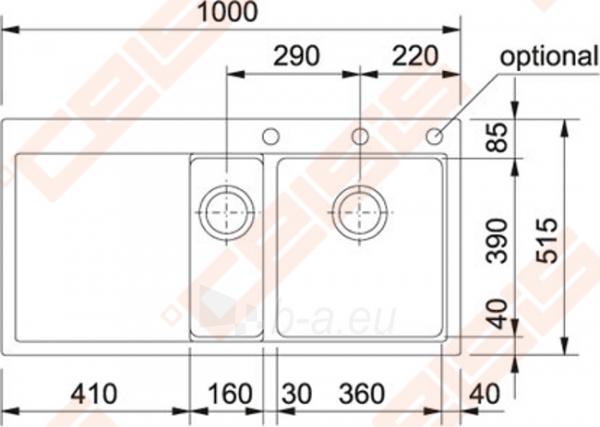 Plautuvė MTG651-100 graphite kairė Paveikslėlis 2 iš 2 270712000134