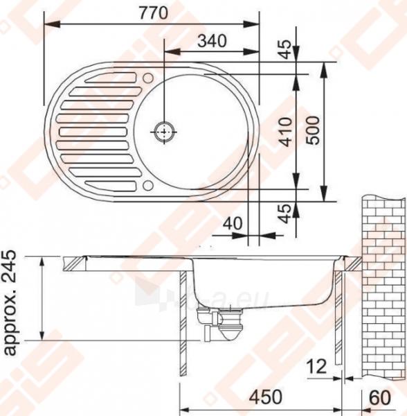 Plautuvė PMN611i be ventilio (112.0006.341) Paveikslėlis 2 iš 2 270712000136
