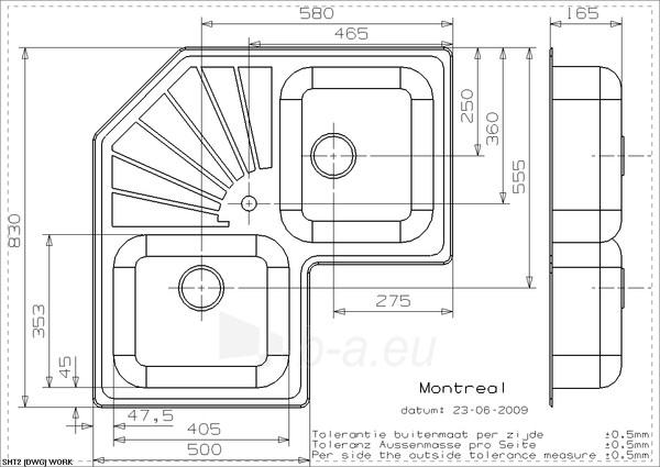 Plautuvė Reginox Montreal Paveikslėlis 2 iš 4 270712000565
