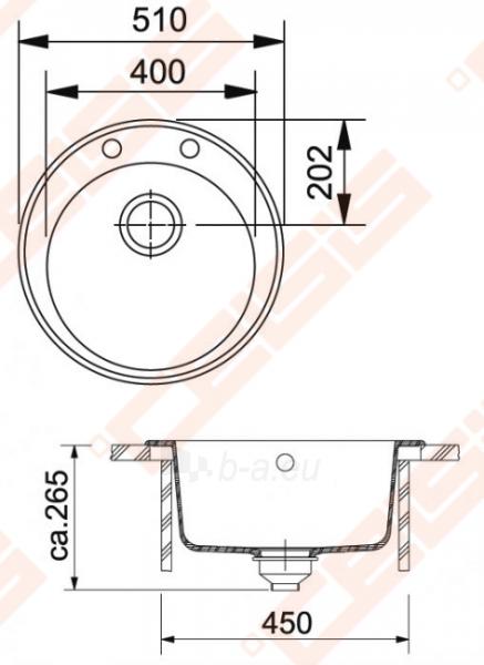 Plautuvė ROG610-41 graphite Paveikslėlis 2 iš 2 270712000141