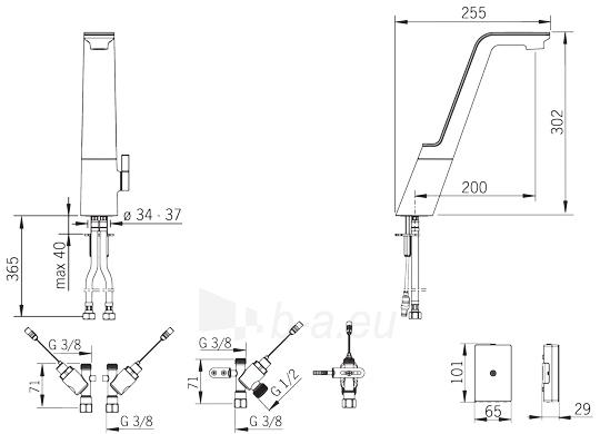 Plautuvės maišytuvas Alessi Sense, su išmaniuoju ventiliu indaplovei Paveikslėlis 2 iš 2 310820163773