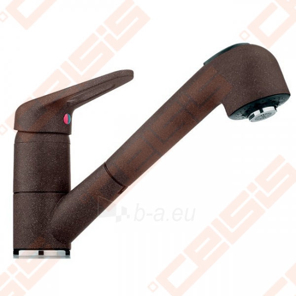 Plautuvės maišytuvas FRANKE BAT740 su ištraukiama žarna, šokolado spalvos Paveikslėlis 1 iš 2 270723000507