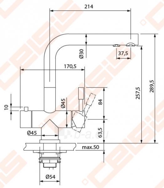 Plautuvės maišytuvas FRANKE su filtru Wellfresh 110 nerūdijančio plieno korpuso Paveikslėlis 2 iš 5 270723000543