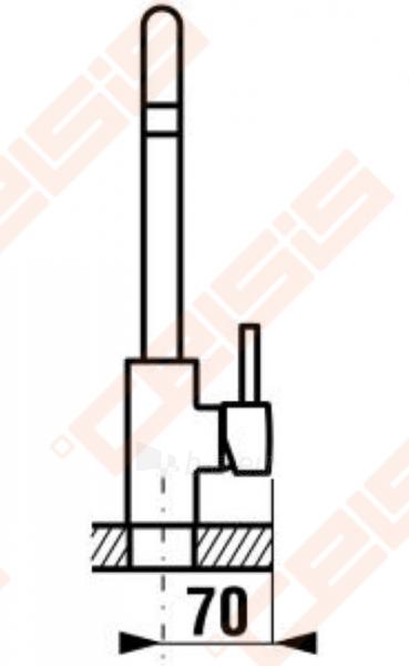 Plautuvės maišytuvas JIKA Mio aukšta svirtimi, chromuotas Paveikslėlis 2 iš 3 270723000609