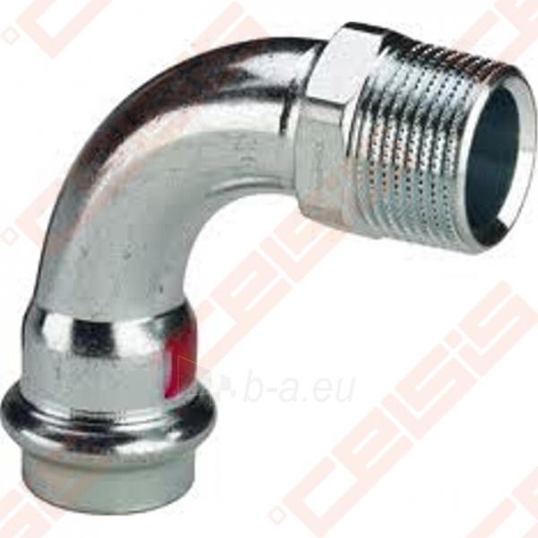 Plieninė cinkuota 90° alkūnė VIEGA PRESTABO Dn15 x 1/2 Paveikslėlis 1 iš 1 270201400119