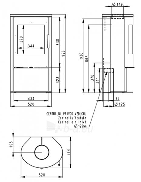 Plieninė krosnelė Romotop Alpera 02 su pilna akmens apdaila Paveikslėlis 2 iš 2 310820254487
