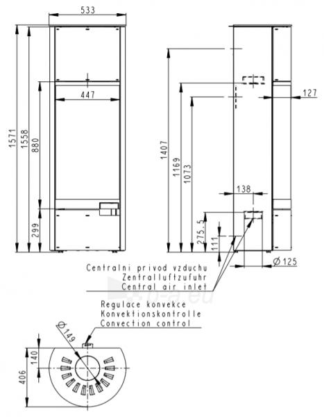 Plieninė krosnelė Romotop be apdailos (aukšta su akumuliacija AKKUM 01X), juoda Paveikslėlis 3 iš 3 310820254447