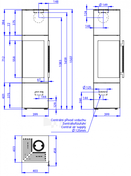 Plieninė krosnelė Romotop Esquina N, plieninė Paveikslėlis 2 iš 3 310820254454