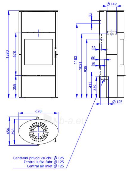 Plieninė krosnelė Romotop Ovalis 02A su muilo akmens apdaila Paveikslėlis 2 iš 2 310820254505