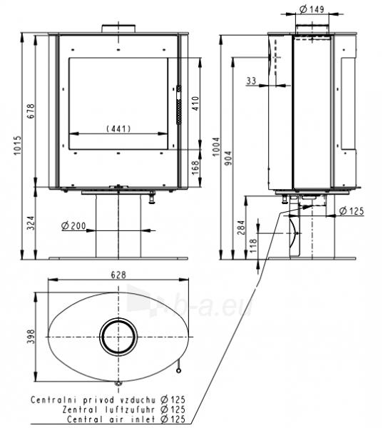 Plieninė krosnelė Romotop Ovalis T 03 plieninė Paveikslėlis 2 iš 3 310820254508