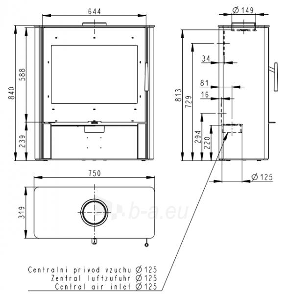 Plieninė krosnelė Romotop SALEM 03 Paveikslėlis 3 iš 3 310820254519